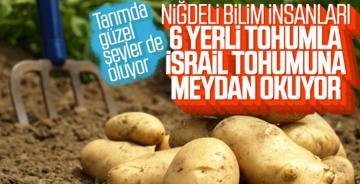 6 Çeşit yerli patates hasadı yapıldı