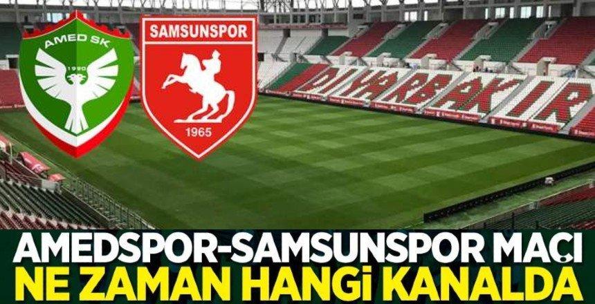Amedspor-Samsunspor maçı canlı yayınlanacak mı?