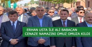 Davutoğlu, Babacan ve Usta cenazede buluştu!