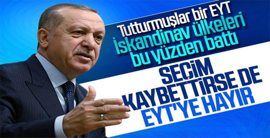 Cumhurbaşkanı Erdoğan, EYT tartışmasına noktayı koydu!