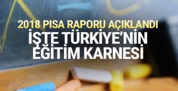 2018 PISA sonuçları açıklandı ! İşte Türkiye'nin eğitim karnesi
